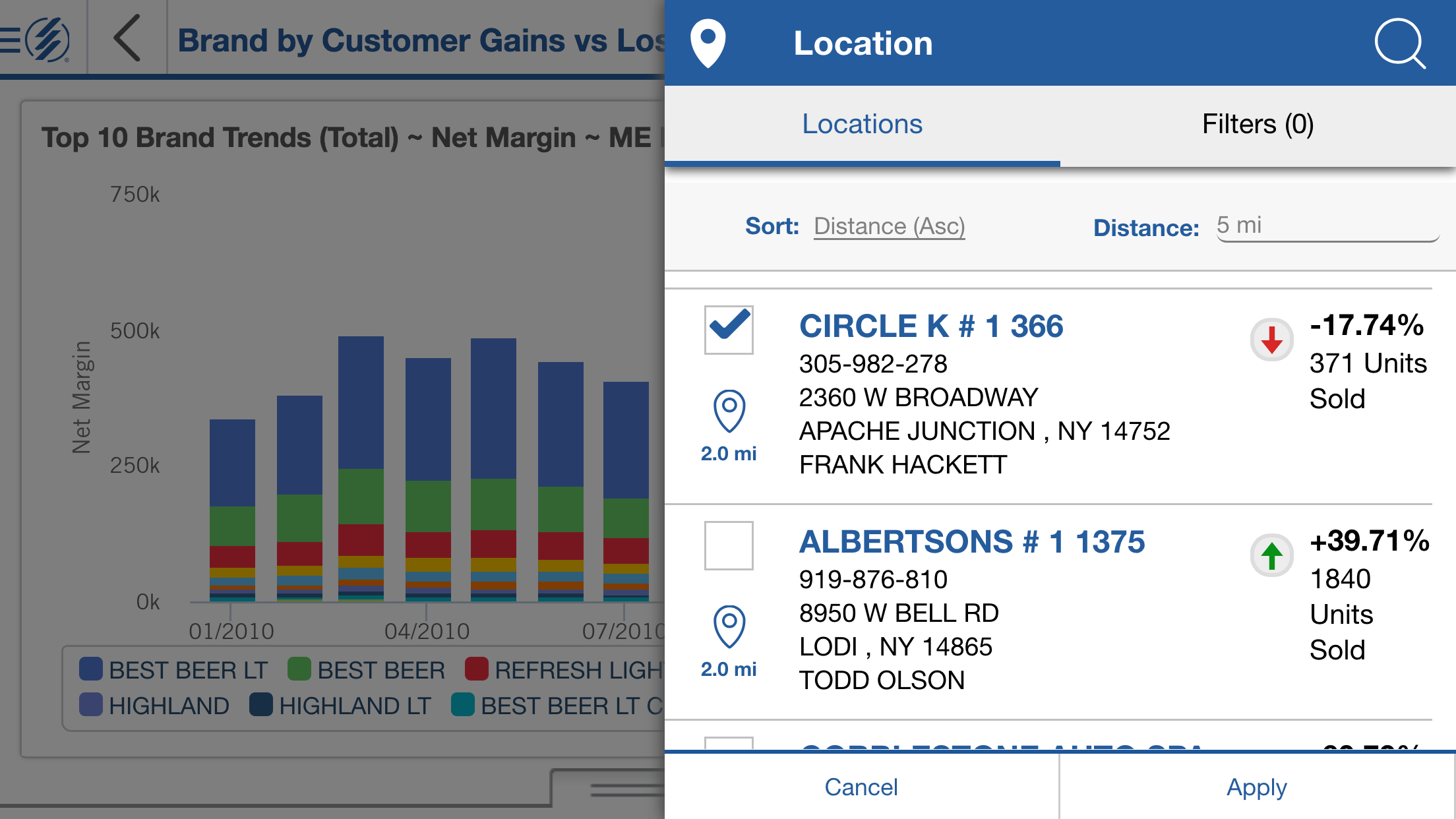 Location Services on Mobile Dashboards