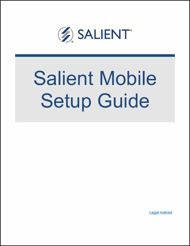 Setting Up Salient Mobile