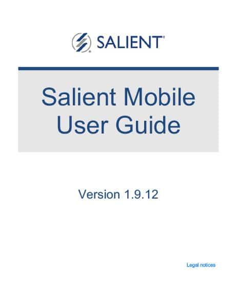 Salient Mobile User Guide